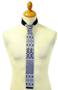 RETRO KNITTED TIES SIXTIES MOD TIES FAIR ISLE TIE