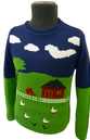 'Macdonald' Mens Retro Intarsia Knit Indie Jumper