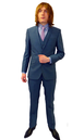 Retro Sixties 3 Piece Slim Fit 2 Button Mod Suit