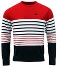 ROBE DI KAPPA TALBOR RETRO 80S STRIPE KNIT JUMPER