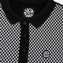 SKA & SOUL Men's Mod Checkerboard Long Sleeve Polo