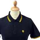 Stomp Mens Retro Indie Mod Tipped Pique Polo Top B
