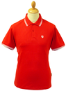 Stomp Mens Retro Indie Mod Tipped Pique Polo Top R
