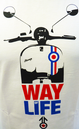 'Way of Life' Mens Retro 60s Mod Stomp Scooter Tee