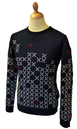 Rime SUPREMEBEING Mens Retro Mod Pattern Jumper N