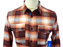 Compass SUPREME BEING Retro Mod Flannel Shirt (Br)