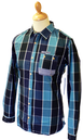 Fiennes SUPREME BEING Retro Mod Block Check Shirt