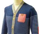 Horst SUPREMEBEING Retro Mod Striped Knit Cardigan