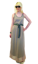 Wave SUPREMEBEING Retro 60s Dual Fabric Maxi Dress