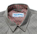 SUPREME BEING 'Block' Retro Dogtooth Check Shirt