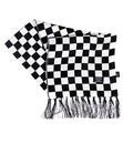 TOOTAL Retro 1960's Mod Chequered Fringed Scarf