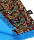 TOOTAL 1960's Retro Paisley and Leaf Silk Scarf