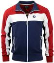 TROJAN RECORDS RETRO MOD STRIPE PANEL TRACK TOP