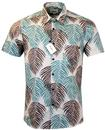 TUKTUK Retro 70s Hawaiian Palm Tree Leaf Shirt