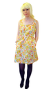 Boogie Down TULLE Retro 60s Floral Indie Mod Dress