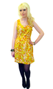 Bow Flower TULLE Retro 60s Floral Mod Bow Dress