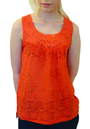 TULLE RETRO MOD VINTAGE SEVENTIES CROCHET TOP 70s