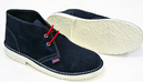 'Face' - Retro Mod Union Jack Desert Boots (Navy)