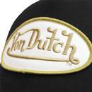 VON DUTCH Patch Retro Trucker Cap BLACK/GOLD