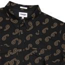 Paisley WRANGLER Retro Western Shirt In Black