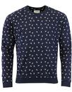 afield ski jump printed sweater navy mod