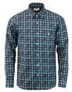 Tab AFIELD Op Art 70s Mountains Flannel Overshirt