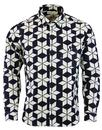 afield tab shirt alpine flower navy mod