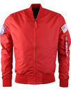 alpha industries ma1 NASA jacket red
