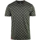 alpha industries mens allover print tshirt olive