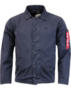 alpha industries authentic utility jacket blue