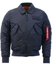 alpha industries cwu vf tt jacket blue mod
