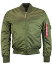 alpha industries ma1 vf mod bomber jacket green
