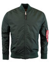 MA1 TT ALPHA INDUSTRIES Mod Bomber Jacket PETROL