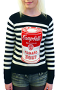ANDY WARHOL CAMPBELLS SOUP JUMPER RETRO 60s MOD