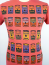 Lineout ANDY WARHOL Campbells Soup Pop Art Tee SR