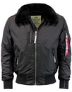 alpha industries injector 3 bomber black mod