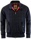 baracuta g9 fox flannel check retro mod harrington