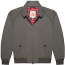 baracuta mens G9 classic mod zip harrington jacket shadow grey