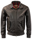 Baracuta G9 Oiled Leather Harrington Jacket Brown