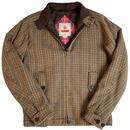 Baracuta G4 Wool Check 60s Mod Harrington Jacket in Dark Brown