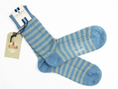 BARACUTA SMART TURN OUT RETRO SOCKS STRIPED BLUE
