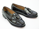 Layton BASS WEEJUNS Mod Black Tassel Loafer Shoes