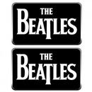 Beatles logo cufflinks in black and silver