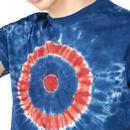 BEN SHERMAN Retro Tie Dye Mod Target Tee (Indigo)