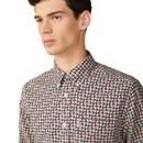 BEN SHERMAN ARCHIVE 90s Retro Mod Print Shirt