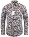 BEN SHERMAN Retro 1960s Mod Big Paisley Shirt