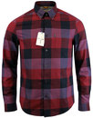 BEN SHERMAN Retro Mod Oversize Gingham Shirt RUBY