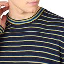 BEN SHERMAN Men's Retro 90s Slub Stripe Jumper