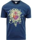 BEN SHERMAN Retro 60's Psychedelic Face T-Shirt