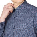 BEN SHERMAN Retro Mod Mini Foulard Shirt - Indigo